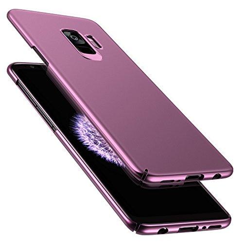 RANVOO Samsung Galaxy S9 Hülle, Dünn Leicht Ultra Slim Hart Hard Matt Anti-Kratzer Anti-Fingerabdruck Voller Schutz Handyhülle Case Cover Schale Schutzhülle für Samsung S9, Lila (Case Lila Hard)