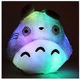 Xmas Mi Vecino Totoro LED Light Up Colorful Plush Toy Doll Studio Ghibli Hayao Miyazaki Totoro Regalos para niños Cumpleaños Día de San Valentín Festival de Navidad Regalos Decoración para el hogar