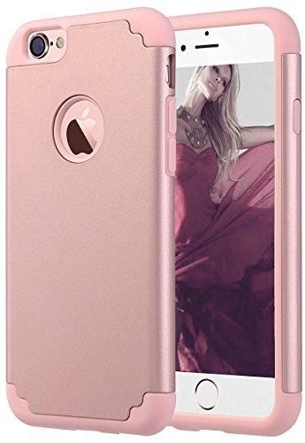 Coque iPhone 7 Plus, Pasonomi [Slim Fit] [Dual Layer] Housse de Protection Matériaux Hybrides en TPU souple et PC dur Coque pour iPhone 7 Plus 2016, Menthe Or Rose