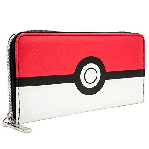Pokemon pokeball Rot und Weiß Entwurf Rot Portemonnaie ()