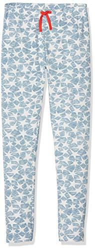 Sanetta Mädchen Schlafanzughose Leggings Allover, Blau (Coronet Blue 50301), 152