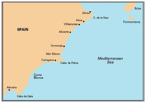 Imray Chart M12: Cabo De Gata to Denia and Ibiza