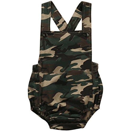 Moda niño recién nacido niñas Siamesas ropa estilo mono bebé mono una pieza traje de camuflaje para 0-6 meses bebé talla S
