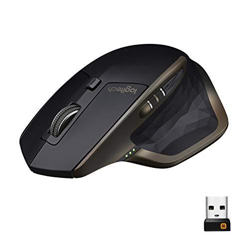 Logitech MX Master Kabellose Maus Amz, Bluetooth/2.4 GHz Verbindung via Unifying USB-Empfänger, 1000 DPI Sensor, Wiederaufladbarer Akku, Multi-Device, Für alle Oberflächen, 5 Tasten, PC/Mac - schwarz