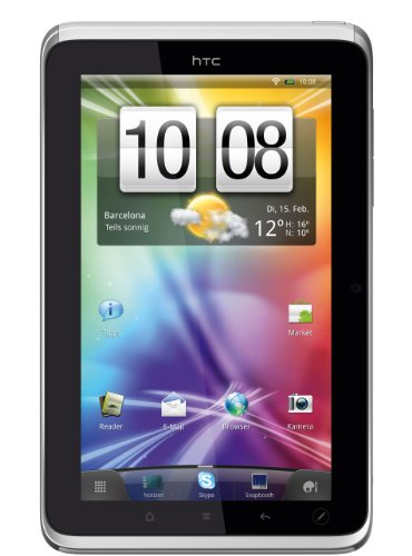 HTC Flyer Tablet 16GB (17.8cm (7 Zoll) Touchcreen, 5 MP Kamera, Wifi, 1.3MP Front-Kamera, HSPA, 16GB interner Speicher, Android OS) weiß/silber