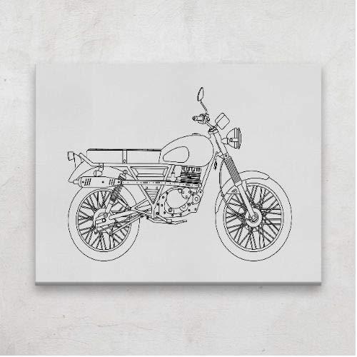 Positivos Lienzos Originales Moto Mash Scrambler