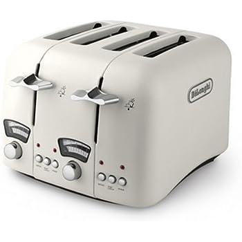De Longhi Classic Ct04e 4 Slice Toaster Cream Amazon Co