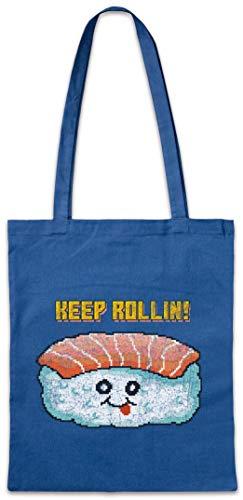 Urban Backwoods Sushi Keep Rollin Hipster Bag Beutel Stofftasche Einkaufstasche