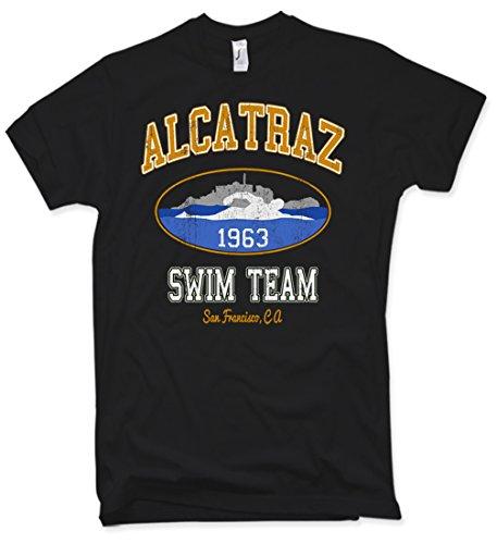 Alcatraz Swim Team T-Shirt Funshirt Vintage Verschiedene Farben Gr. S – 5XL (Distressed Bier)