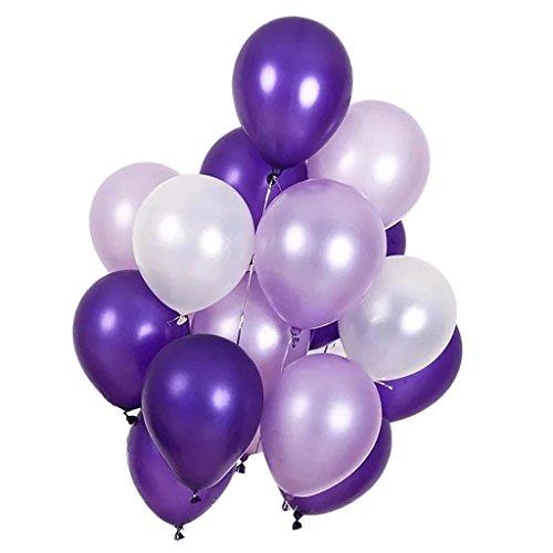 Baoblaze 30x Pastell Ballon Heliumballon Latex Ballon Luftballon Dekoballon, Farbwahl - Lila
