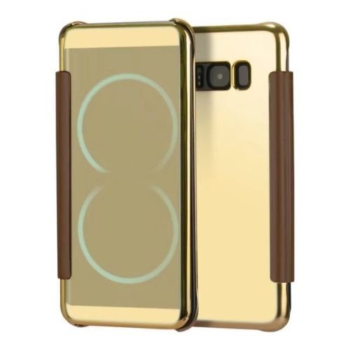 Mobi Case Luxury Clear view Mirror Flip cover Case for Samsung Galaxy S8 Plus - Gold