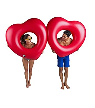 Bigmouth Inc Giant Double Hearts Pool Float 4
