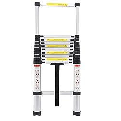 10.5Ft 3.2M Extendable Alminium Ladders Telescopic Folding Extending Portable 11 Steps Loft Extension Ladder DIY Multi Purpose UK Stock