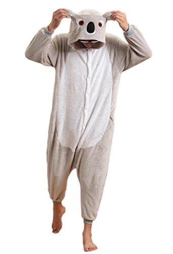 Imagen de lihao pijama disfraz de koala gris para adulto unisex, cosplay, halloween talla m