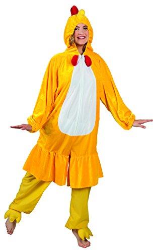 Boland 88004 Erwachsenenkostüm Huhn aus Plüsch unisex-adult gelb M/L