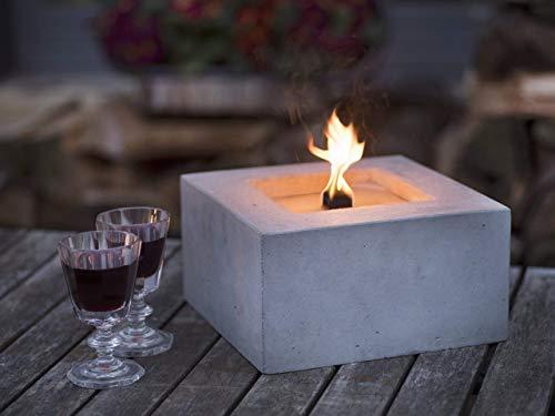 Beske-Betonfeuer mit \'Dauerdocht\'   Größe 24x24x13   Wiederbefüllbare Gartenfackel   \'Unendliche\' Brenndauer durch umweltfreundliches Recycling von Kerzenwachs