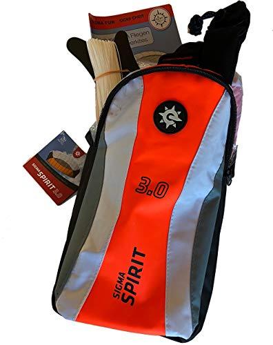 Lenkmatte Sigma Spirit 3.0 schwarz-weiß-orange, rtf, flugfertig, Parafoil, 2-Liner, Powerkite