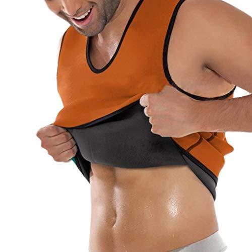 Männer Sauna Weste Abnehmen Body Shaper Taille Trainer Korsetts Shapewear Tank Tops