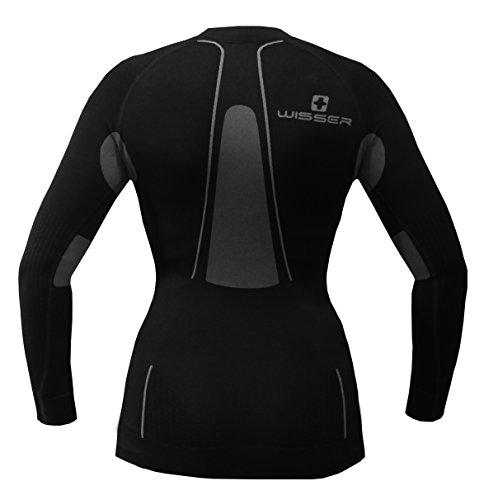 Maglietta da donna a maniche lunghe Thermo Wisser Nero - nero/grigio