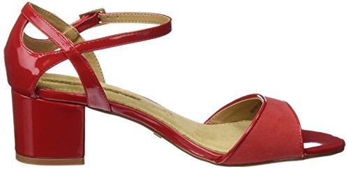 Sandali Maria Mare Donna Aurora Con Cinturino Alla Caviglia Rosso