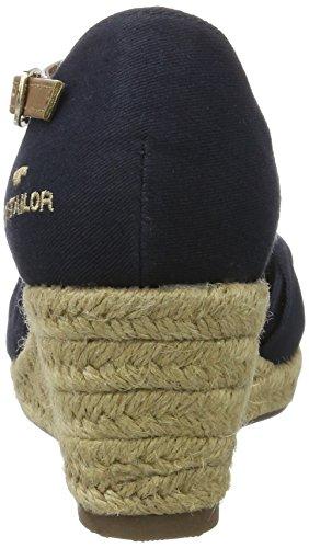 Tom Tailor 2790907, Scarpe Col Tacco con Cinturino a T Donna blu (navy)