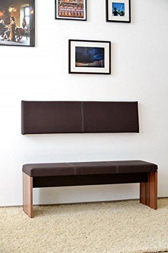 S / small Wand-Kissen Keil-form Keilwandkissen Kunstleder mit Montage-Set 115 x 30 cm