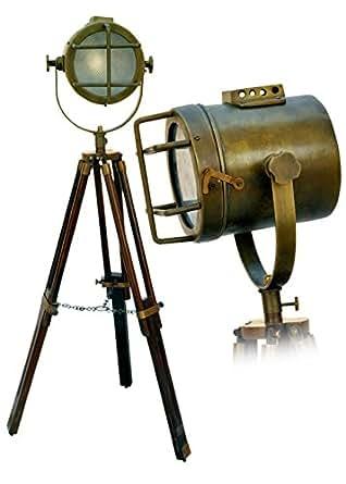 medieval replicas stehlampe with tripod vintage beleuchtung. Black Bedroom Furniture Sets. Home Design Ideas