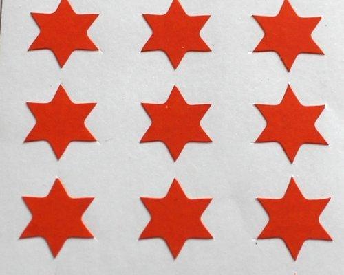 150 Etiquetas, 10mm Forma De Estrella, Naranja, Pegatinas Autoadhesivas, Minilabel Formas