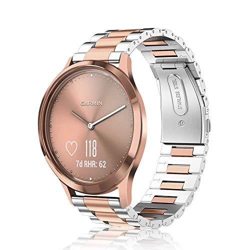 Fintie Cinturino per Garmin Vivoactive 3/3 Music, Vivomove HR/3/Luxe/Style, Forerunner 245/645 Music, Venu Smartwatch, Ricambio in...