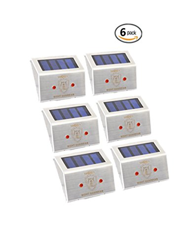 Solar Powered LED Predator Deterrent Light/ Pest Repellent and Control/ Guards Against Nocturnal Wild Animals/ Closely Protects Your Enclosure/ Auto-on at Dusk and Auto-off by Day/ Farm Garden Pasture Orchard Corral Chicken Coop Light (6) Test