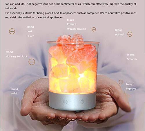 CE-LXYYD Himalaya-Kristallsalzlampe, Gesundheits- und Gesundheitsgeschenkgeschenk, Nachttischlampe, buntes USB-Nachtlicht, Bluetooth-Lautsprecher (Für Ingenieure Akustik)