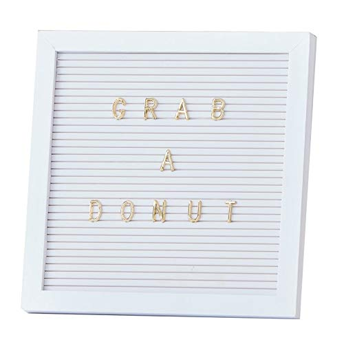Letter-Board weiß & Gold/Buchstaben-Tafel inkl. 161 Zeichen/Memo-Board/Steck-Tafel/Pinn-Wand Hochzeit-s-deko-Ration
