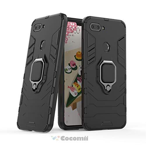 Cocomii Black Panther Armor Xiaomi Mi 8 Lite/Mi 8 Youth/Mi 8X Hülle NEU [Strapazierfähig] Ring Ständer [Funktioniert Mit Magnetischer Autohalterung] Case Schutzhülle for Xiaomi Mi 8 Lite (B.Jet Black)