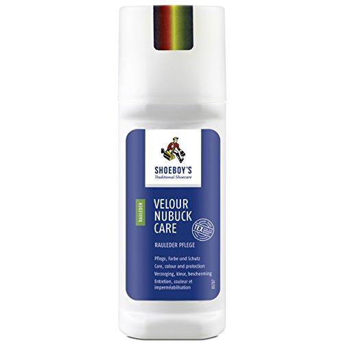Shoeboy's Velour Nubuck Care - sprühnebelfreie Pflege, Imprägnierung für Rauleder und Textilien, farblos, 1er Pack (1 x 75 ml)