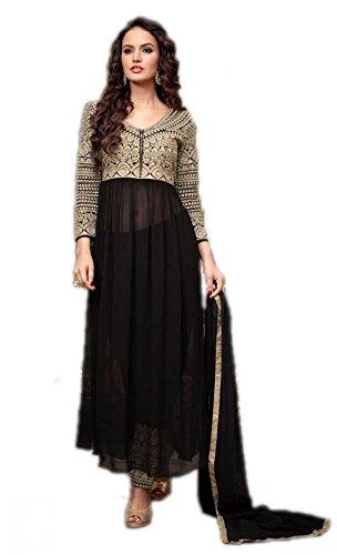 RV Creation Designer Party Wear Black Color Anarkali Dress