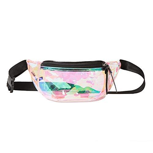 (JAGENIE Laser transparent klar Bum Taille Fanny Pack für Frauen Brust Crossbody Beach Bag transparent)