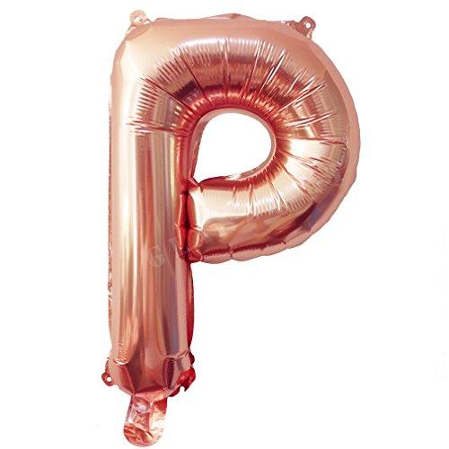 a Gold Luftballons Buchstaben A bis Z Zahlen 0 bis 9 Verlobung Hochzeit Babyparty Jubiläum Geburtstag Party Weihnachten Fest Deko Folienballons (Buchstabe P) (Happy Birthday Ballons Mit Namen)