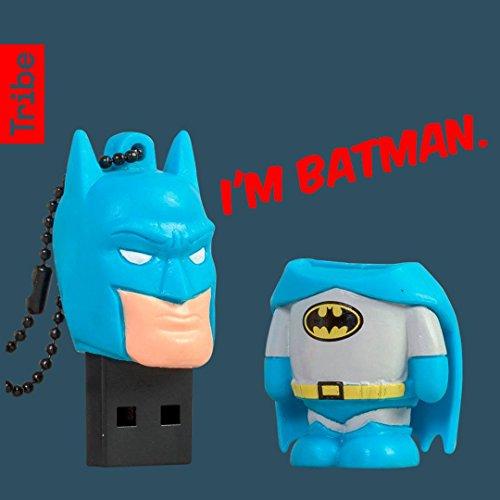 Tribe Warner Bros DC Comics Batman - Memoria USB 2.0 de 16 GB Pendrive Flash Drive de Goma con Llavero