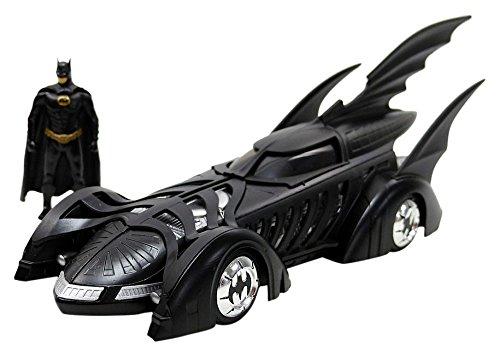 Jada Toys–Batman Forever mit Figur Batmobil Fahrzeug Miniatur, 98036bk, schwarz, Maßstab 1/24 (Batman Batmobile)