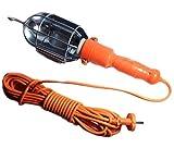 takestop® PORTALAMPADA PORTA LAMPADA E27 DA OFFICINA 220V CON CAVO DA 10 METRI INTERRUTTORE ON/OFF GANCIO