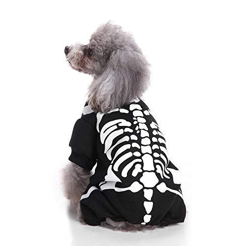 FOONEE Hundepullover, Haustier/Katze / Hund/Kostüm, Weihnachtsmann für Weihnachten, Halloween, Urlaub, S/M/L Skeleton-XL