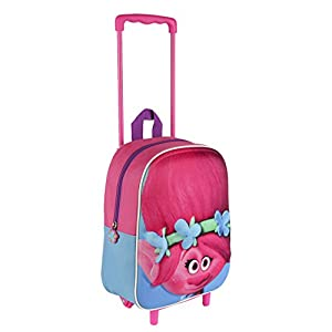 Trolls 3D Effect Face Poppy Junior TROLLEY 31 cm