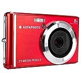 AGFA Photo ? Kompakte Digitalkamera mit 21 Megapixel CMOS-Sensor, 8X Digitalzoom und LCD-Display Rot