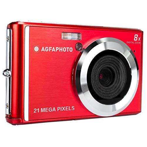 AGFA Photo – Kompakte Digitalkamera mit 21 Megapixel CMOS-Sensor, 8X Digitalzoom und LCD-Display Rot