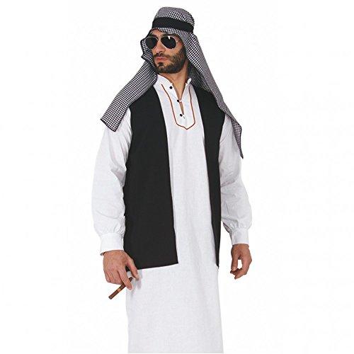 Wüste Kostüm - Mortino Araber Kostüm Scheich Farid Tunika Ölscheich Wüste Araber Fasching Tuareg (M)