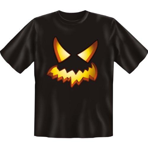 Halloween T-Shirt: Blazing Pumpkin erhältlich in den Größen S, M, L, XL, XXL, 3XL, 4XL und 5XL - Ausgewählt: XL / Schwarz