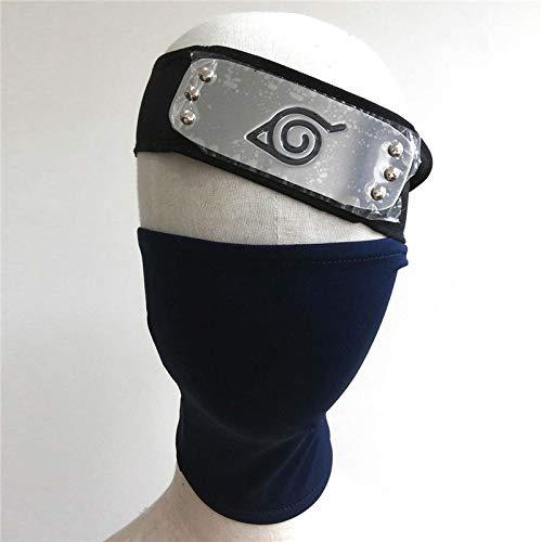 VAWAA Gesicht Maske Stirnband Cosplay 2pcs/Set Für Anime Naruto Mit Reißverschluss Halloween Party Verwenden