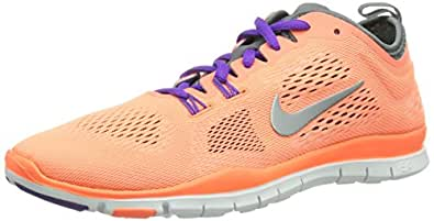Nike Free 5.0 Tr Fit 4 629496-801 Damen Fitnessschuhe Orange (Brght Mng/Wlf Gry-Cl Gry-Antrc) 36.5