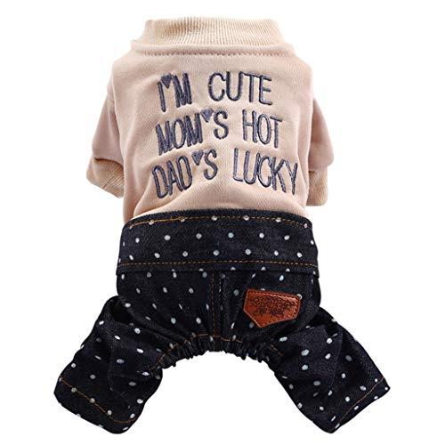 T.boys's Haustier Pet Pants Brief drucken Lätzchen Hose Hundemantel-für Klein- und Mittelunter Hunde, Warm Winter - Dog Prince Kostüm