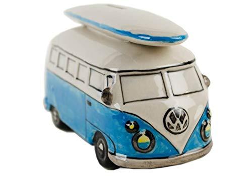 Life Arts Caravana Alcancía Cerámica Hecho a Mano Grande Tabla de Surf Azul (6cm x 16cm x 8cm)